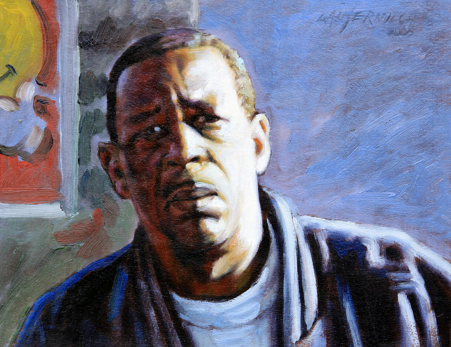 African American Painting - Man In Morning Sunlight by John Lautermilch