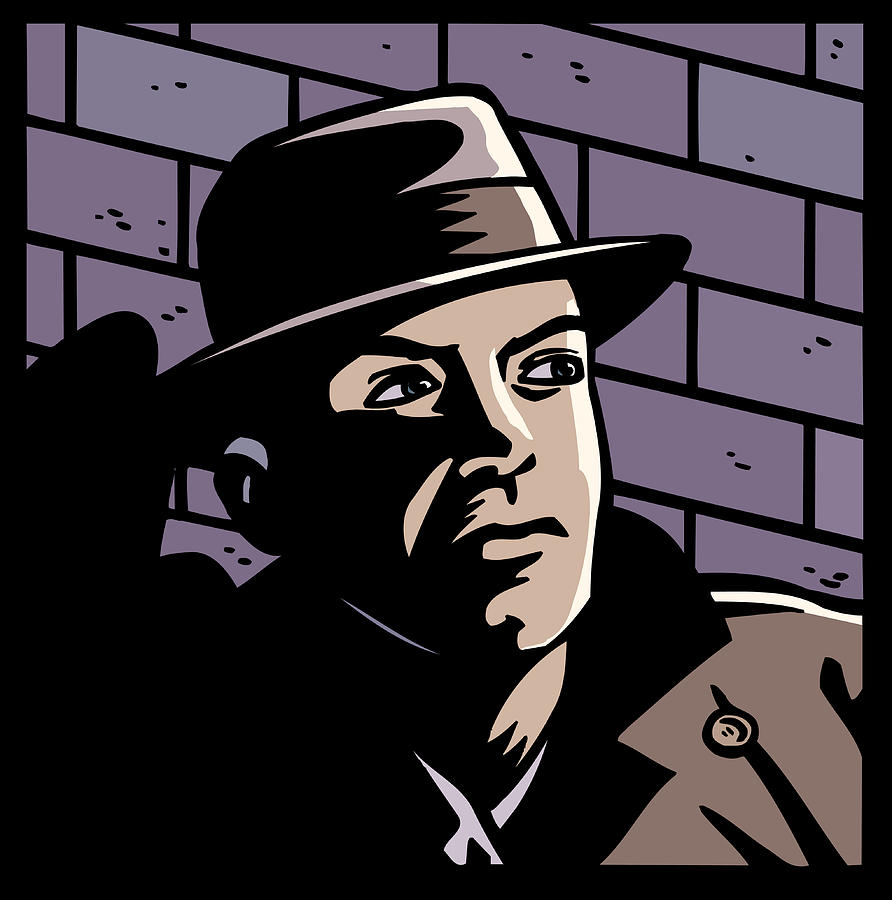 Man in Shadows Drawing by Paul Gilligan
