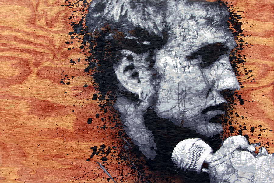 Layne Staley Painting - Man In The Box by Bobby Zeik