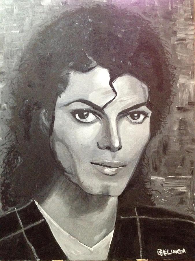 Mj Painting - Man In The Mirror by Belinda Low