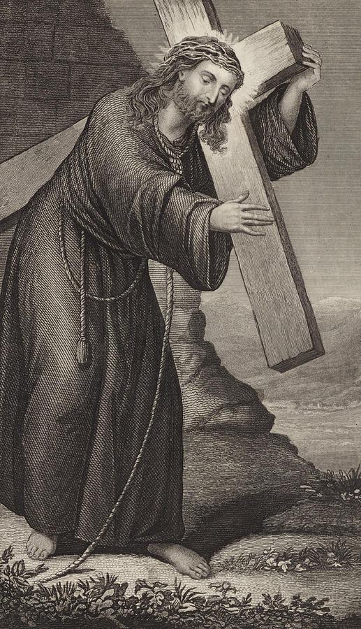 Bible Drawing - Man Of Sorrow by English School