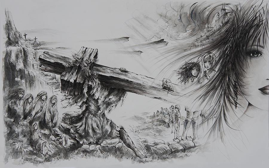 Christ Painting - Man Of Sorrows by Rachel Christine Nowicki