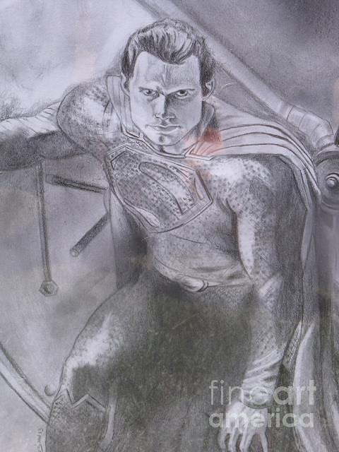 Drawing - Man Of Steel by Michael Iglesias