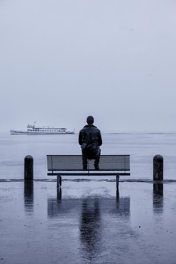 Male Photograph - Man On Bench by Joana Kruse