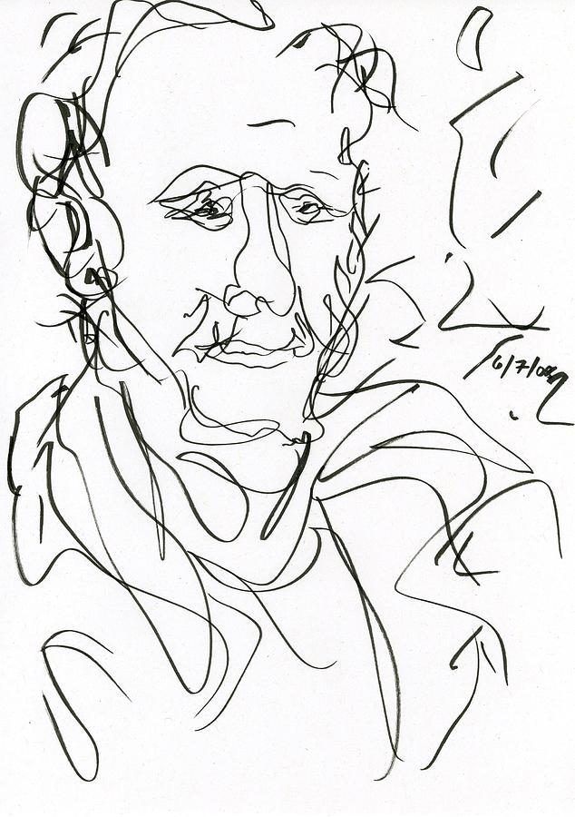 Man Drawing - Man by Rachel Scott