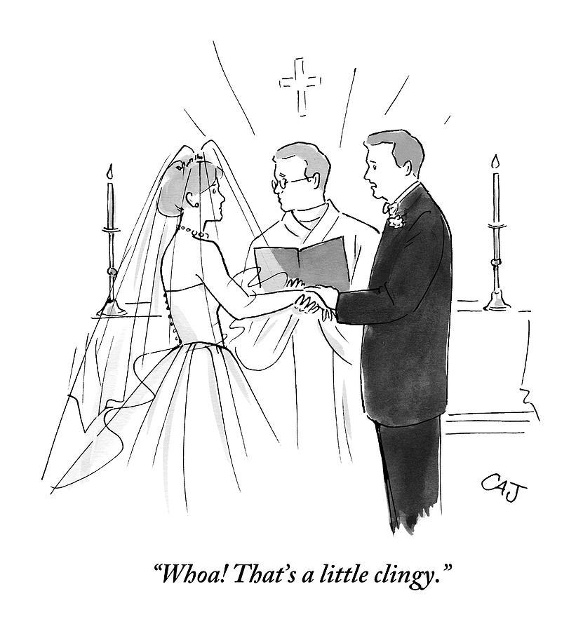 Wedding Altar Cartoon: Man To Wife During Wedding Vows By Carolita Johnson