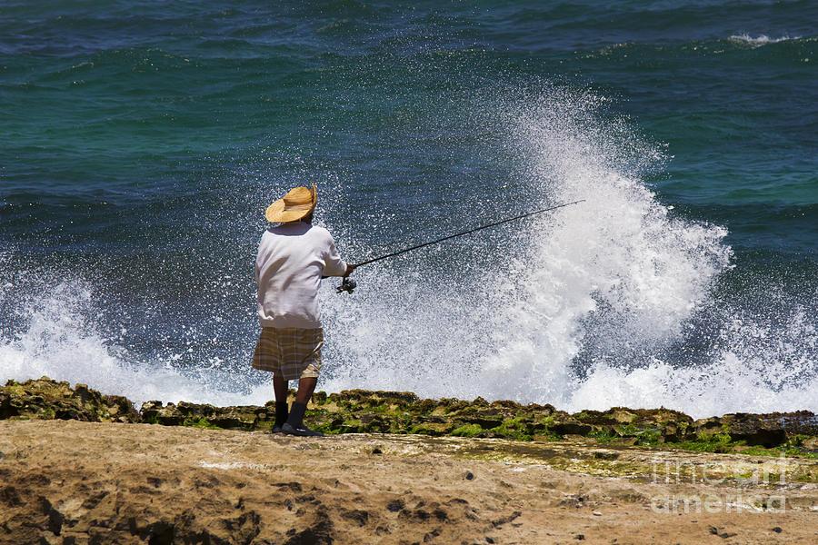 Fisherman Photograph - Man Versus The Sea by Mike  Dawson
