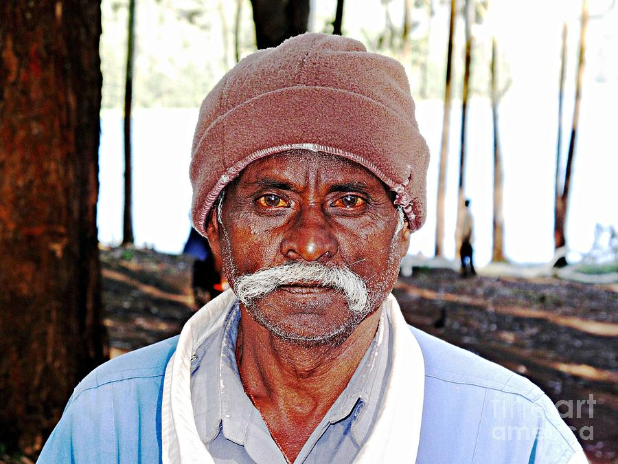 Mustaches Photograph - Man With A Mustache by Ethna Gillespie