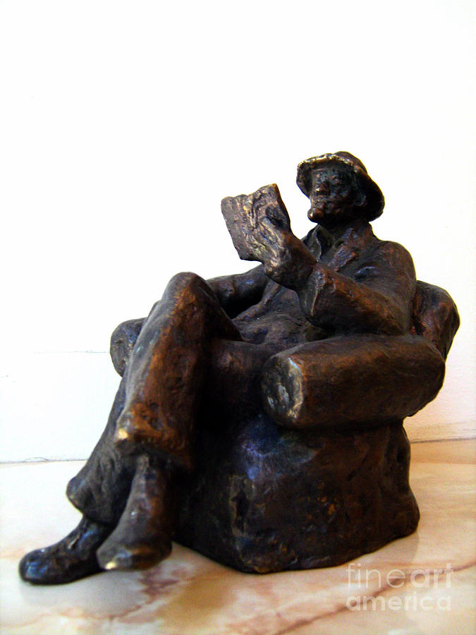 Man Sculpture - Man With Book by Nikola Litchkov