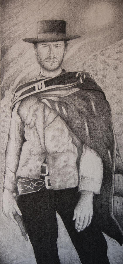 Illustration Drawing - Man With No Name by Stephen J DiRienzo