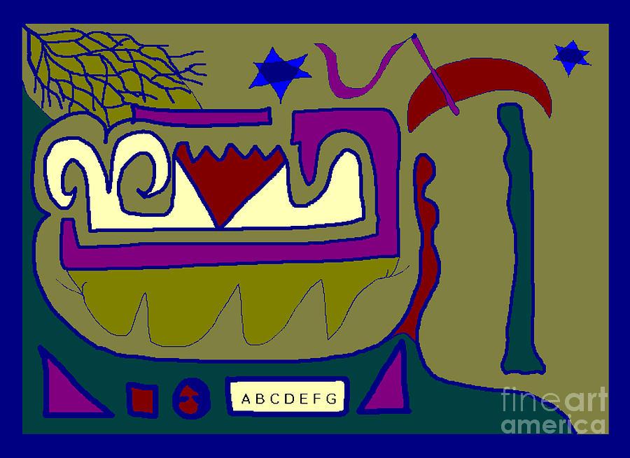 Figurative Abstract Digital Art - Man Woman by Meenal C