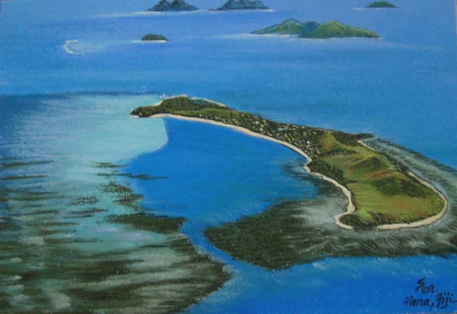Landscape Painting - Mana Island by Pravin  Sen