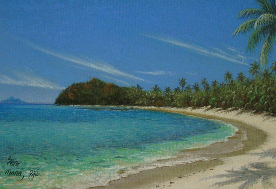 Landscape Painting - Mana Island- South by Pravin  Sen