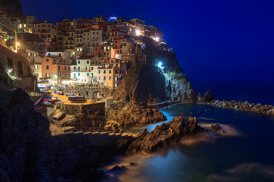 Italy Photograph - Manarola At Night by Rick Starbuck
