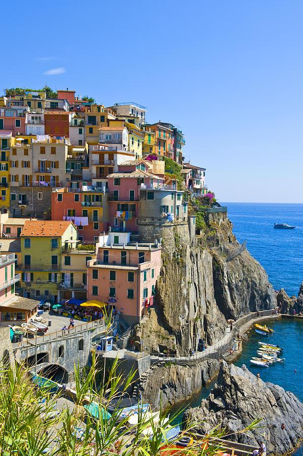 Italy Photograph - Manarola Cinque Terre Italy by Pam  Elliott