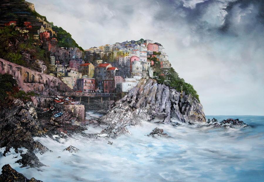 Manarola Italy Painting By Jean Walker