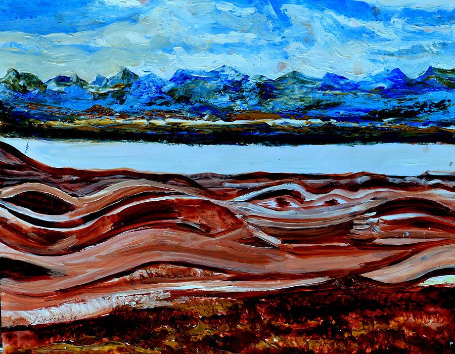 Himalayas Painting - Manas Sarovr Lake-19 by Anand Swaroop Manchiraju
