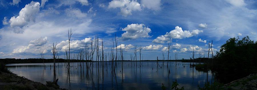Waterscape Photograph - Manasquan Reservoir Panorama by Raymond Salani III
