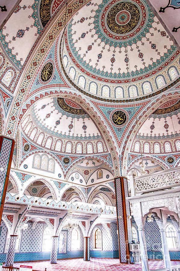 Mosque Photograph - Manavgat Mosque Interior 02 by Antony McAulay