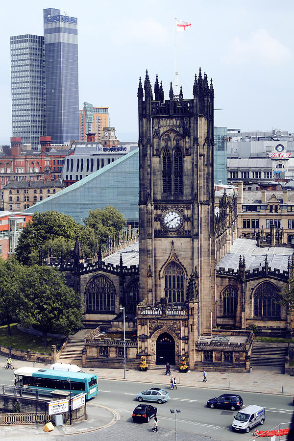 Manchester Photograph - Manchester Cathedral by Anthony Bean