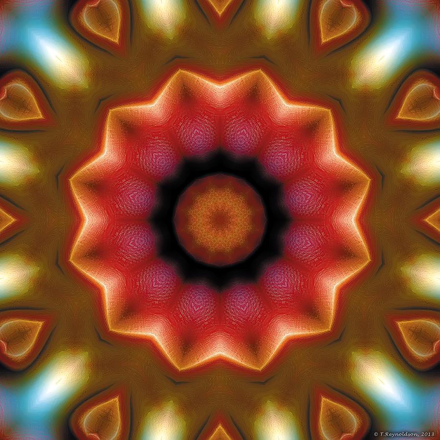 Kaleidoscope Patterns Digital Art - Mandala 103 by Terry Reynoldson