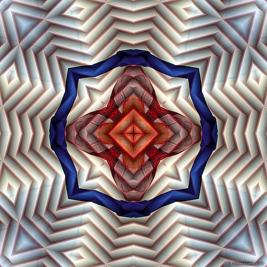 Sacred Geometry Digital Art - Mandala 11 by Terry Reynoldson