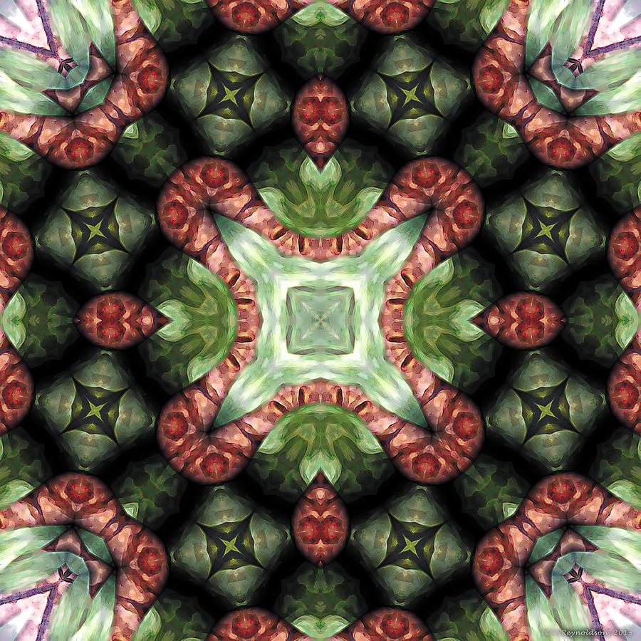 Healing Digital Art - Mandala 113 by Terry Reynoldson