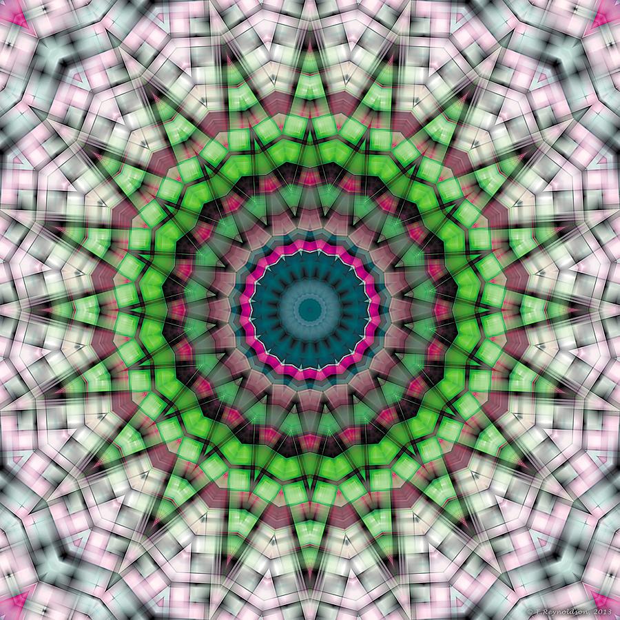 Relaxing Pattern Digital Art - Mandala 26 by Terry Reynoldson