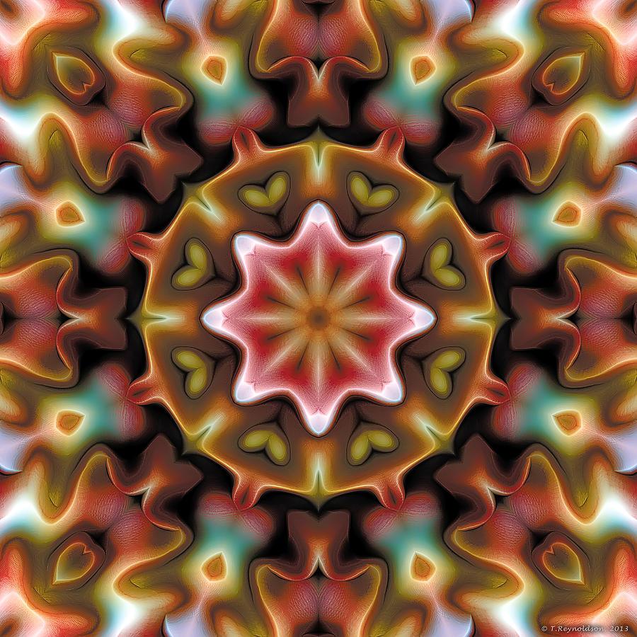 Texture Pattern Digital Art - Mandala 92 by Terry Reynoldson