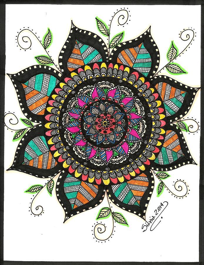 Mandala Color Drawing By Silvia Ricciardi