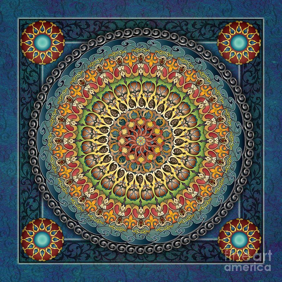 Mandala Digital Art - Mandala Fantasia by Bedros Awak