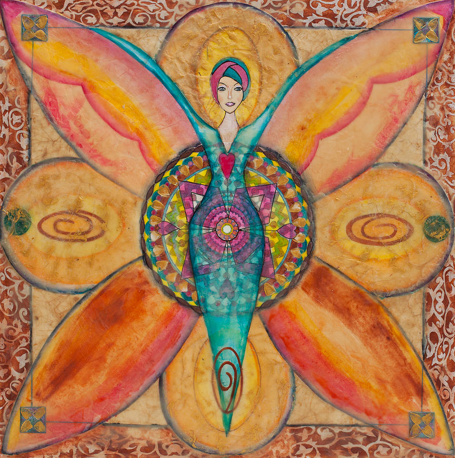 Mandala For Courage Painting By Cheryl Irwin