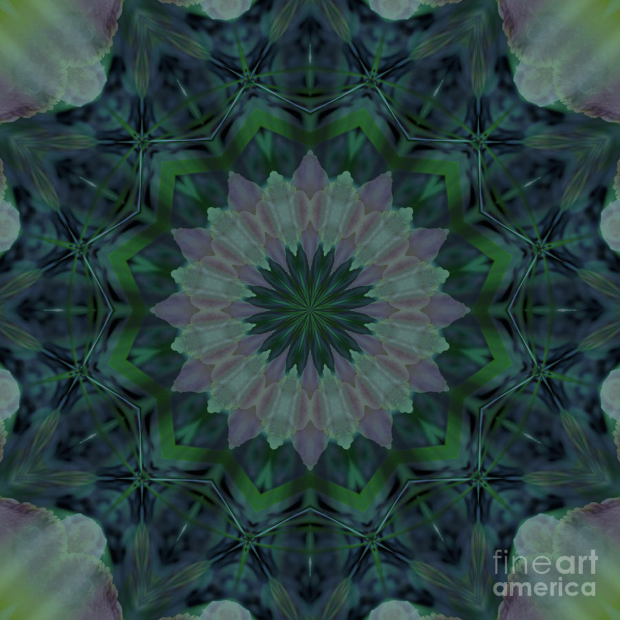 Mandala - Hagi Green Serene by Kathi Shotwell