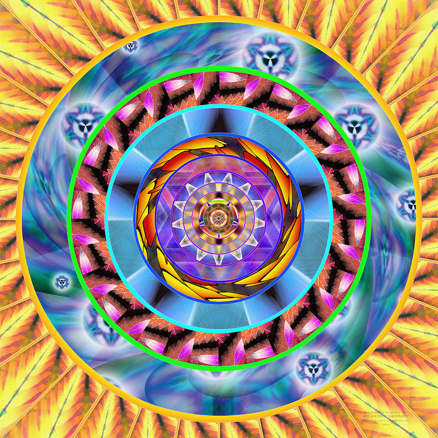 Sacredlife Mandalas Drawing - Mandala Wormhole 101 by Derek Gedney