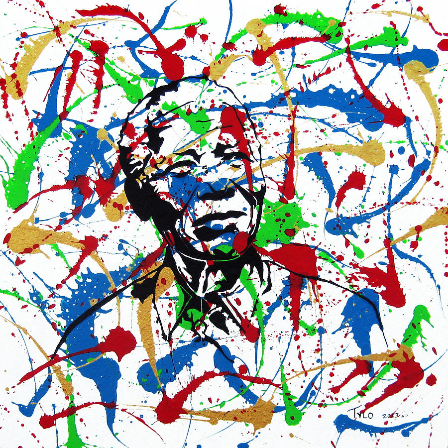 Nelson Mandela Painting - Mandela Convicted Criminal President Elect by Tylo Jacobs