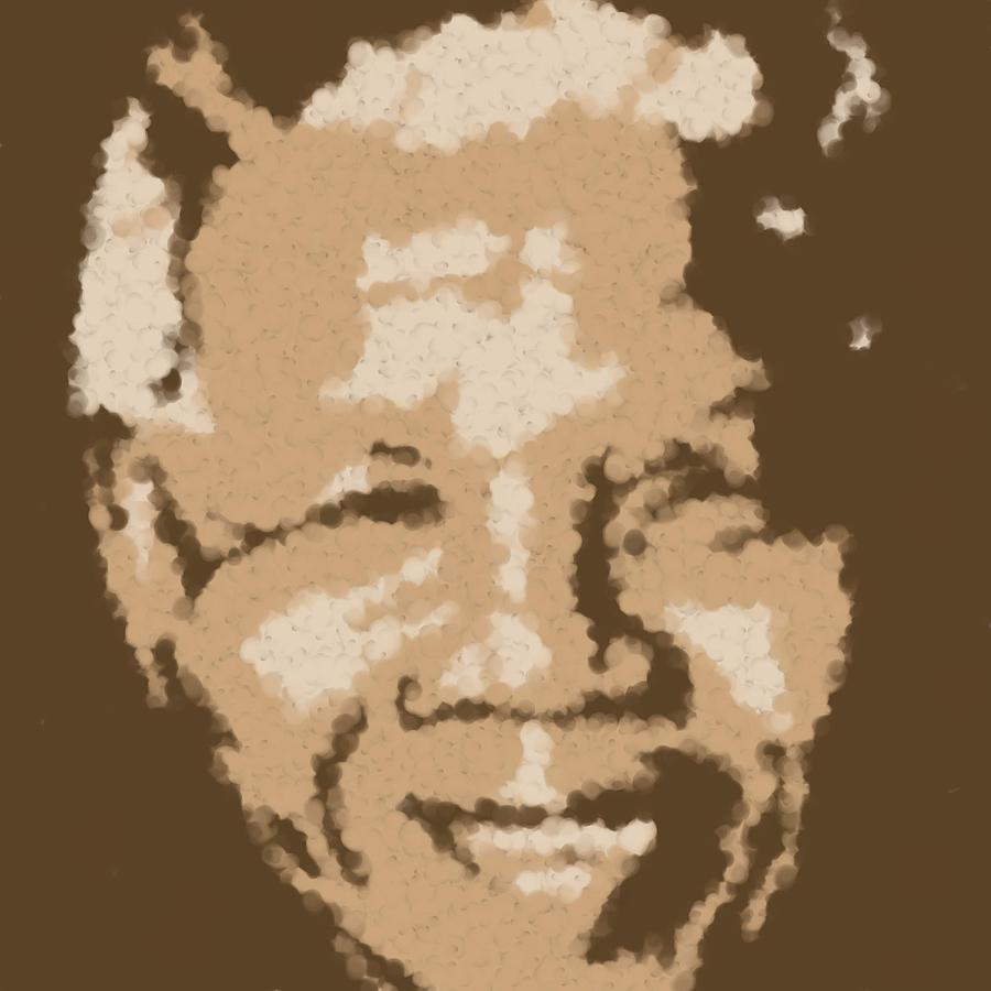 Mandela South African Icon  Brown Symbolizes High Ethical Standards And He Is Rewarded Le Prix De Le Digital Art by Asbjorn Lonvig