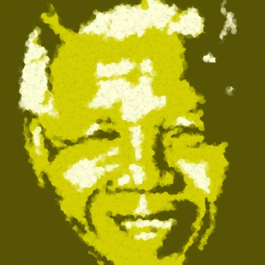 Mandela South African Icon  Yellow In The South African Flag Symbolizes Mineral Wealth Painting Digital Art by Asbjorn Lonvig