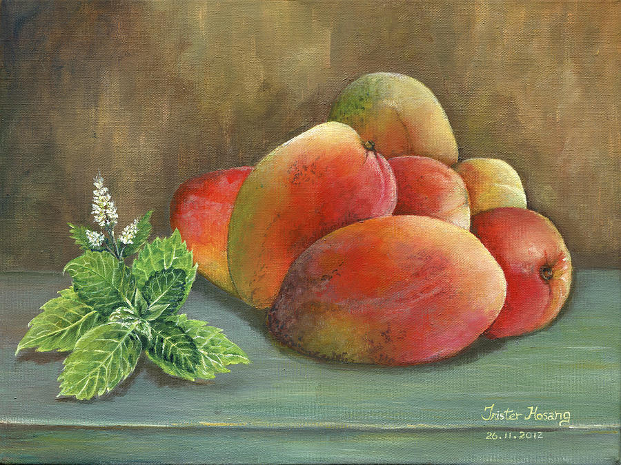 Caribbean Painting - Mango And Mint by Trister Hosang
