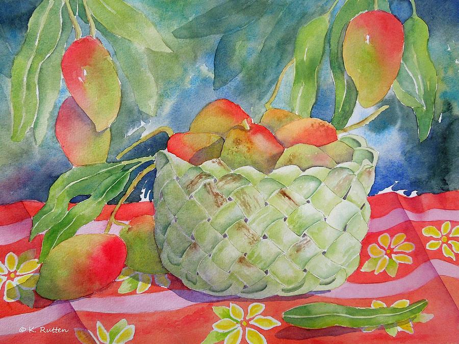 Mango's Painting - Mango Harvest by Kathleen Rutten