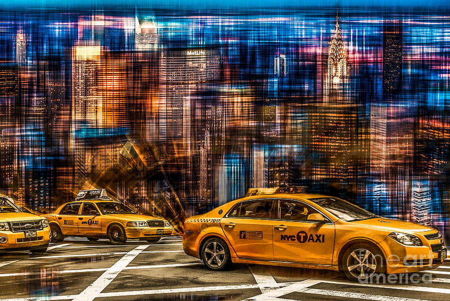 Nyc Photograph - Manhattan - Yellow Cabs I by Hannes Cmarits