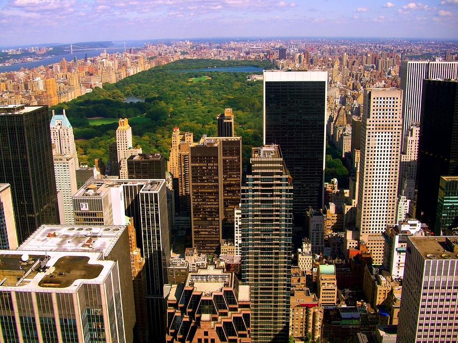 Manhattan And Central Park Photograph by Monique Wegmueller