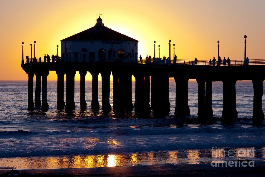 Manhattan Beach Pier Photograph By Andrew Brooks