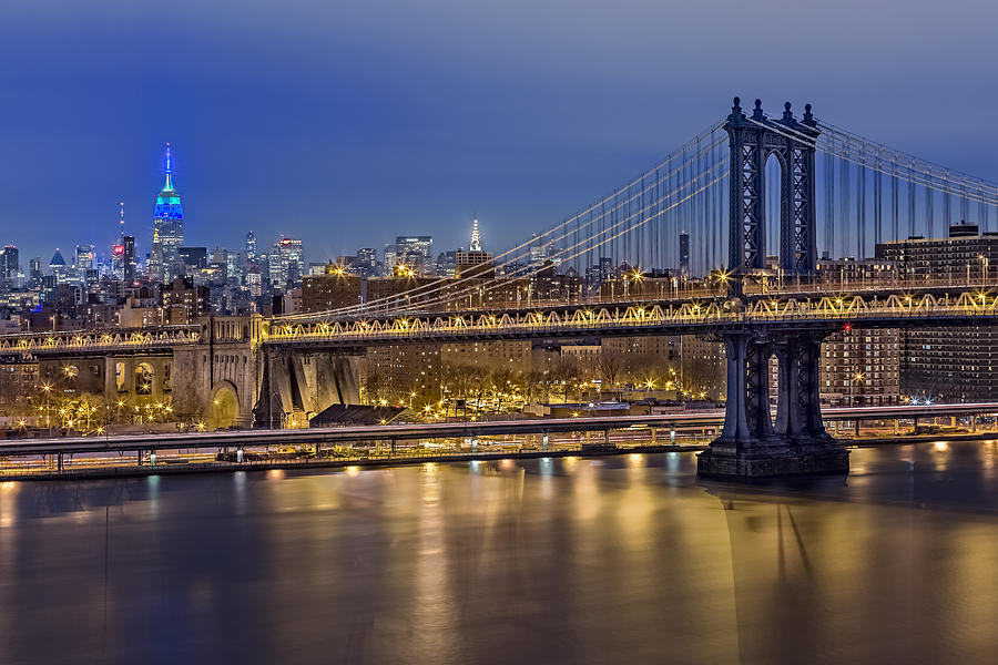 America Photograph - Manhattan Bridge by Eduard Moldoveanu