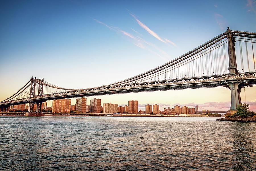 Manhattan Bridge New York City Skyline Photograph by Mlenny