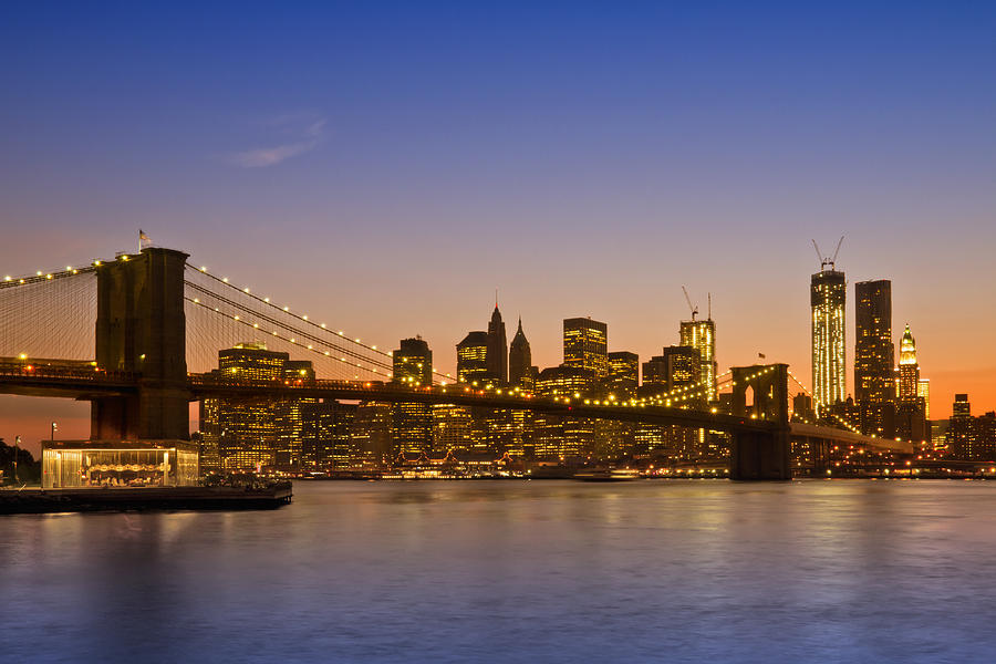 New York Photograph - Manhattan Brooklyn Bridge by Melanie Viola