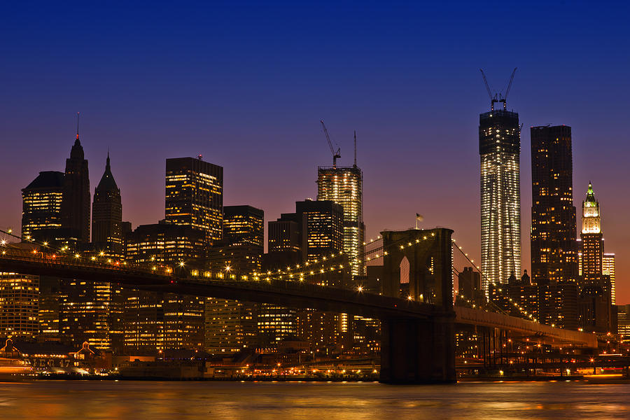 New York Photograph - Manhattan By Night by Melanie Viola