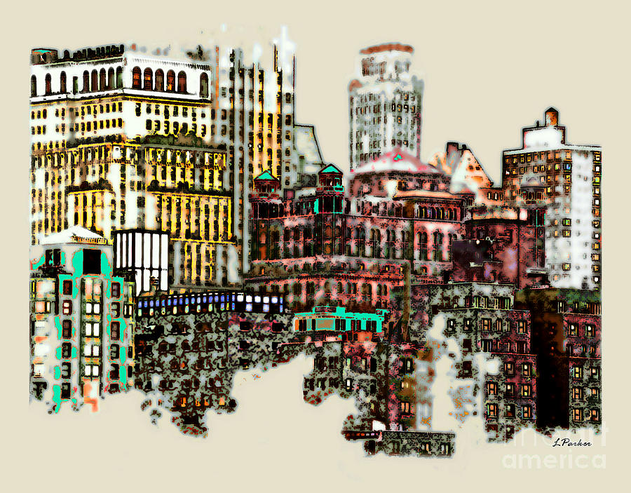 Ny Photograph - Manhattan Cluster by Linda  Parker