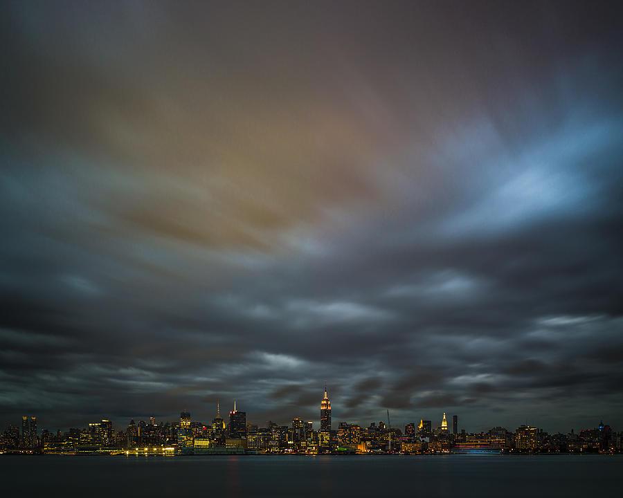 Sky Photograph - Manhattan On The Horizon by Chris Halford