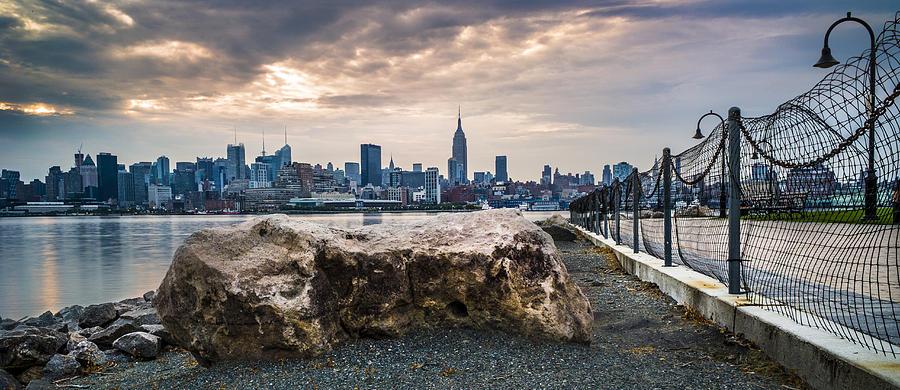 Manhattan Photograph - Manhattan Over The Hudson by Chris Halford