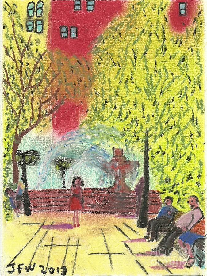 Manhattan Park Pastel - Manhattan Park 1 by John Williams